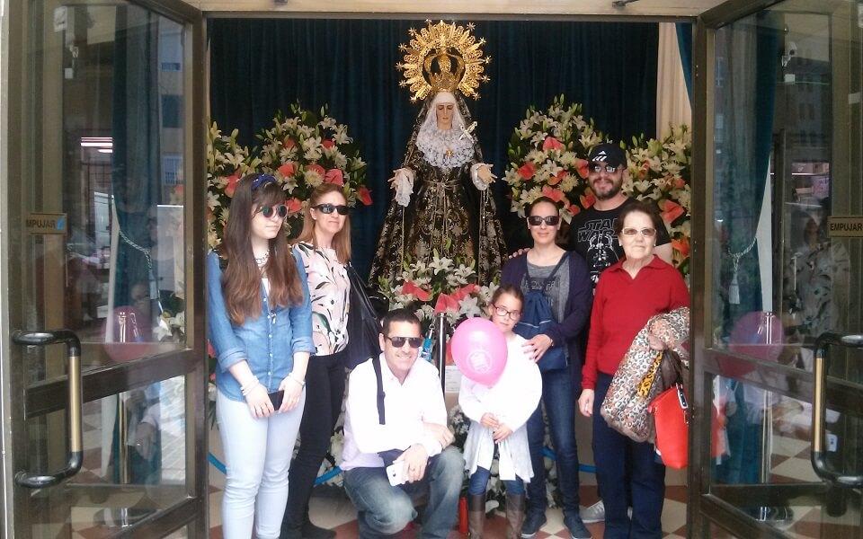 Virgen de los Dolores en el Mercado del Cabanyal SSM16