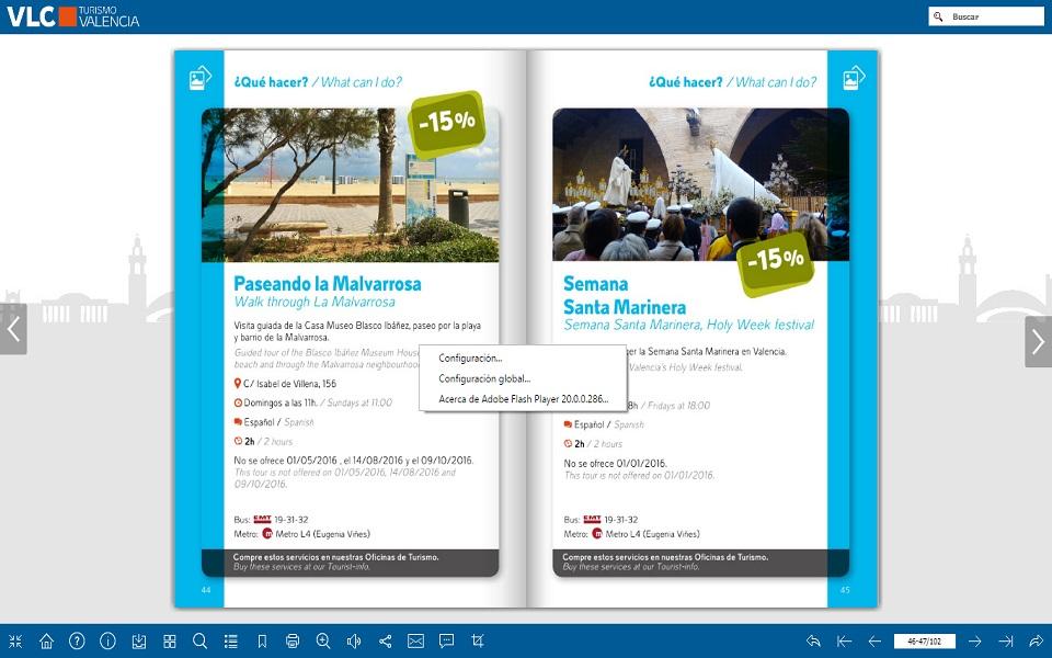 Paseando Malvarrosa Valencia tourist Card