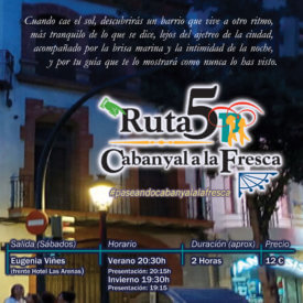Visita Guiada tarde, nocturna, Cabanyal, Valencia.