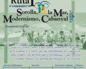 Visita guiada El Cabanyal, Valencia. Los sábados por la mañana, a las 10h30; Ruta: Sorolla, La mar, Modernismo, Cabanyal