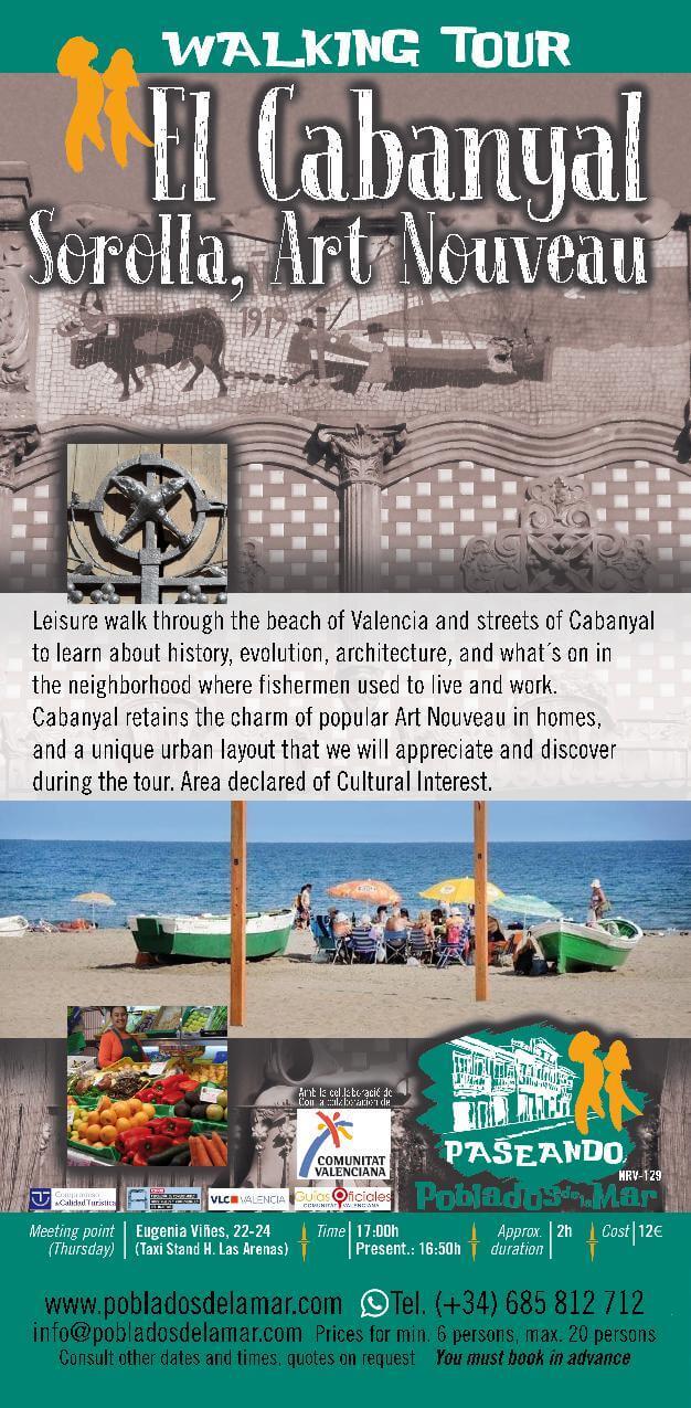 walking tour El Cabanyal Sorolla Art nouveau