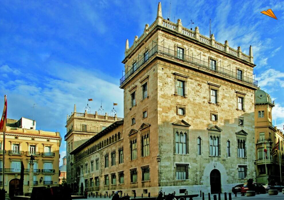 Valencia medieval. Palau de la Generalitat Valenciana. foto abcviajes