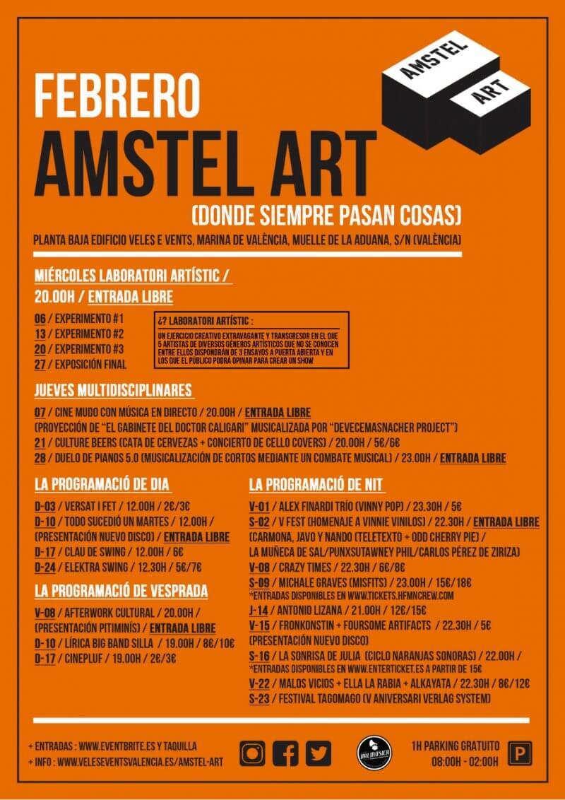 Programa arte y cultura en Veles e Vents . Amstel Arts