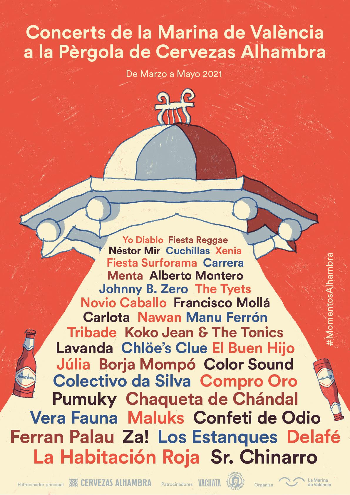 Conciertos en la Pergola La Marina de Valencia marzo - mayo 21